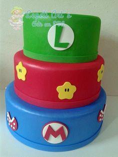 Bolo em EVA sem emendas tema Mario Bros