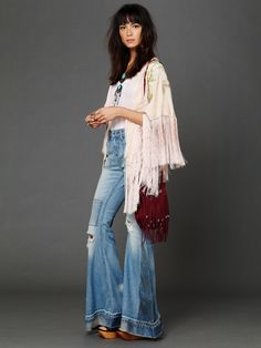 Free People Embroidered Crepe Shawl at Free People Clothing Boutique