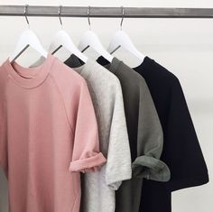Tee-shirt basic, Simple : gris /noir/blanc/rose pâle - Zara / rad.co