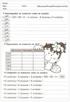 Resultado de imagem para atividade de matematica 5 ano sistema de numeral decimal