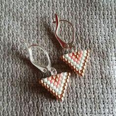 Boucles d'oreilles perles miyuki tissage brick stitch