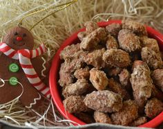 Cinnamon Almonds - great neighbor gift. If you can manage to have any leftover!