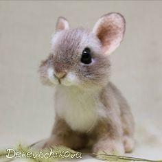 Крольчонок Ластик. Милый, пушистый ребенок Кролик при доме. Sold.#rabbit #animals #feltingwool #felting #кролик #крольчонок #сухоеваляние #авторскаяигрушка #игрушкаизшерсти