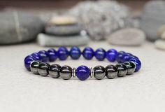 Fashion jewelry for men jewelry Blue bracelet Reiki jewelry
