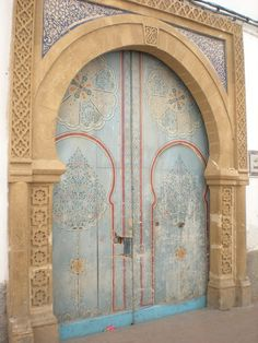 Essaouira doors in the Old Medina (Historical part of the town).