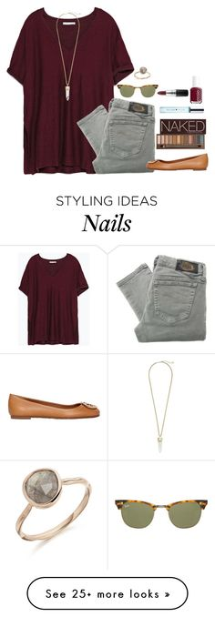 """FALLing in Love"" by heyitsak on Polyvore featuring moda, Zara, Diesel, Tory Burch, Kate Spade, Urban Decay, Essie, Ray-Ban, MAC Cosmetics y Kendra Scott"