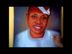 davido father deji adeleke portrait painting by Ayeola Ayodeji. http://www.awizzy.net