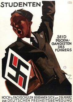 """German WW2 """"Students, be the Fuhrer's Propagandists!"""""""