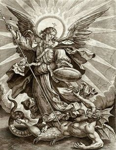 The Archangels oversee and guide Guardian Angels who are with us on earth. The most widely known Archangel Gabriel, Michael, Raphael, and Uriel. Archangel Michael Tattoo, St Michael Tattoo, Archangel Gabriel, Religious Photos, Religious Art, Rennaissance Art, Angel Tattoo Designs, Angel Warrior, Biblical Art