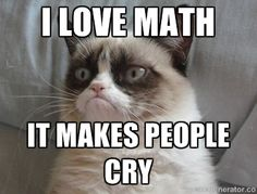 Create your own images with the Grumpy Cat hates math meme generator