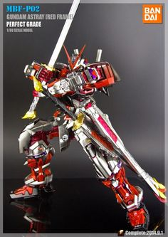 "Painted Build: PG 1/60 Gundam Astray Red Frame ""Metallic Build"" - Gundam Kits Collection News and Reviews"