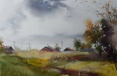 """master class in watercolor """"Light through the crown"""" Ilya Ibryaeva online at the following link: http://lectoroom.ru/course/show/52f8b5fd9c7684951c000"""