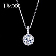 UMODE Bijoux Female Top Quality Multi Prongs AAA+ CZ Pendant Necklace For Women Wholesale Cheap Jewelry Stores AUN0060