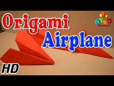Origami - How To Make AEROPLANE - Simple Tutorial In English - YouTube