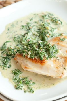 #Epicure Chicken with Creamy Spinach Sauce #portioncontrol