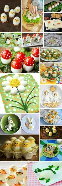 How to serve eggs? Great ideas :)- How to serve eggs? Great ideas 🙂 How to serve eggs? Easter Recipes, Baby Food Recipes, Holiday Recipes, Cooking Recipes, Cute Food, Good Food, Yummy Food, Awesome Food, Food Carving