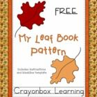 Free!! Fall Leaf Printable Booklet Template  from Crayonbox Learning!