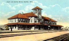 Train Depot and Harvey House in Sapulpa, Oklahoma