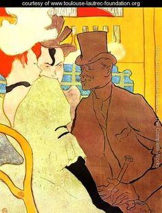 The Englishman At The Moulin Rouge    Henri De Toulouse-Lautrec