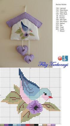 Keçe çalışmalarını da sevenler için... Designed and stitched by Filiz Türkocağı...