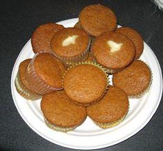 Layered Cream Cheese Pumpkin Muffins via @SparkPeople