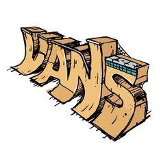 Vans skate park by FALU - streetart Skateboard Logo, Skateboard Design, Skateboard Girl, Desenhos Old School, Skate Ramp, Posca Art, Plakat Design, Burton Snowboards, Vans Off The Wall