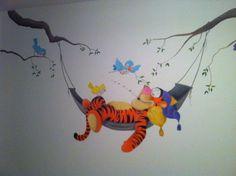 Muurschildering tijgertje gemaakt door StijlvolleMuur.nl