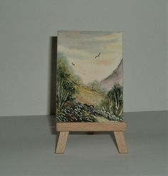 art painting aceo miniature (ref 219) £3.50