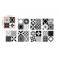 New peel and stick tiles collection: The Black and White Vintage Bilbao Patchwork model by Smart Tiles