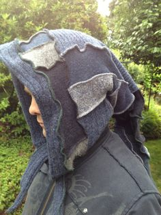 Renaissance Elf Hood Hat Recycled Upcycled by danamurphydesigns, $39.00
