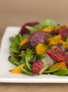 and blood orange salad with spicy greens roasted beet and blood orange ...