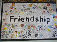 Friendship school display board by year In the style of tom. Best Picture For Tom Gates bookmark For Your Taste You are looking for something, and it Display Boards For School, School Displays, Tom Gates, Cool Pictures, Beautiful Pictures, Social Skills Lessons, Year 6, Back To School, Toms