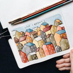 Live BRIGHT . #samoshkina_art #illustration #illustrations #dailyart #art #artist #art_we_inspire #art_spotlight #art_public #inspire #instaart #wearevsco #vscoart #vscocam #watercolors #watercolorart #aquarelle #cute #toppaint #topdraw #topcreator #globalart #topart #painteveryday #detail #soulart #artcitchen #eatsleepdraw #artbook
