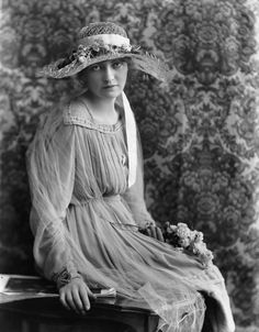 Madge Saunders by Bassano, 1918