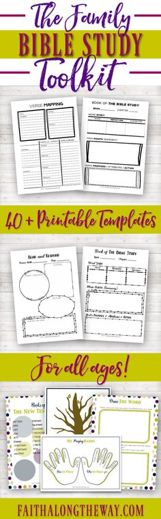 Make and family devotions SIMPLE & PRACTICAL with the Family Bible Study Toolkit. Learn how to study the Bible with help from these templates & teach your children to love the Lord. Family Bible Study, Bible Study Tips, Bible Study For Kids, Bible Study Journal, Scripture Study, Bible Lessons, Family Scripture, Kids Bible, Scripture Journal