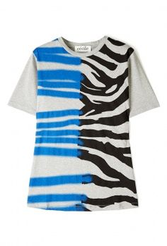 Zebra Stray Print Staple T-Shirt by Etre Etre Cecile
