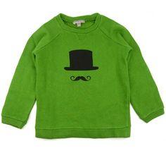 sweat molleton gazon moustache - jongens 2-6j - kledij 0-6 jaar - Emile et Ida - Lunabloom - ...