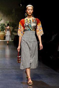Dolce and Gabbana Spring 2013, Milan Fashion Week