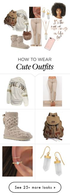 """""""cute fall outfit"""" by mama8-1 on Polyvore featuring Victoria's Secret, UGG and BillyTheTree"""