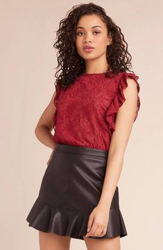 Ok ladies. The Get In Formation embroidered chiffon top has ruffle trim sleeve details and an all over paisley eyelet pattern. Shop BB Dakota now. Ruffle Trim, Skater Skirt, Chiffon Tops, Paisley, Blouse, Lady, Spring, Skirts, Sleeves