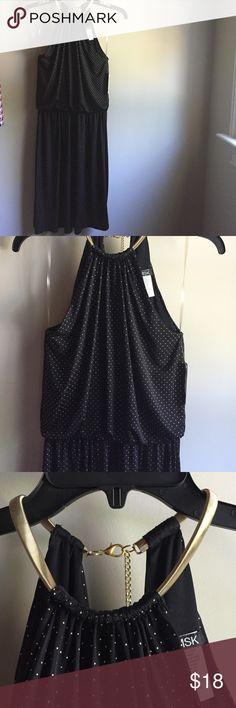 Macys night out dress NWT Black with gold studs dress - gold collar - never been worn MSK Dresses