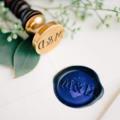 """I might be a little biased but nothing says """"I love you"""" like a monogram wax seal!   Photography @mikecassimatis Stationery @fourteen_forty by fourteen_forty"""