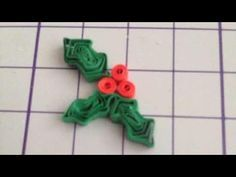 Create Cute Quilled Holly Leaves - DIY Crafts - Guidecentral - YouTube