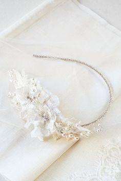 PALOMA beaded bridal headpiece in ivory