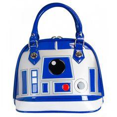 Não poderia faltar uma bolsa do queridinho R2-D2, né?