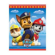 Paw Patrol Party Favor Bags