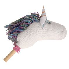 Hobby Unicorn  Try this magical creation. You can easily assemble it in about an hour from a dowel and a fuzzy slipper sock.