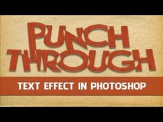 Punch Through Text Effect in Photoshop - Eric Renno