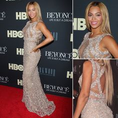 Beyoncé in a perfect chest see through dress