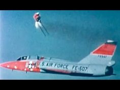 """F-106 Ejection at 535 MPH (~ 1960) US Air Force; from """"Bioastronautics Research"""" https://www.youtube.com/watch?v=j8jfqIZVxbY #aviation #safety #skydiving"""